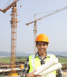 Portrait of construction worker at construction site