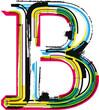 Colorful Grunge LETTER B