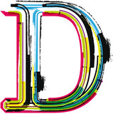 Colorful Grunge LETTER D