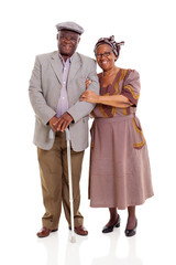 elderly african couple
