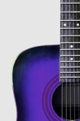 blue steel string acoustic guitar