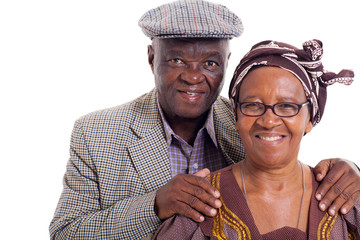 senior african couple portrait