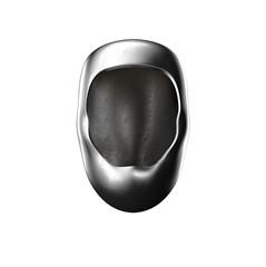 iron helmet on white background