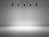 Fototapety grey spotlight background with lamps