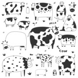 set of funny cows