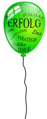 Luftballon Erfolg grün