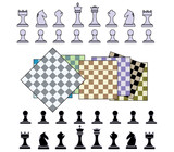 colored chess set