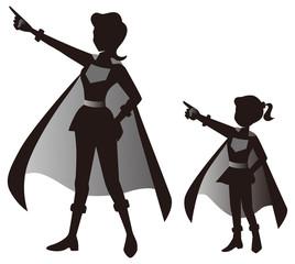 正義のヒロインの母と娘