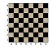 brown and black chess table