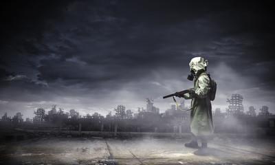 Stalker with gun