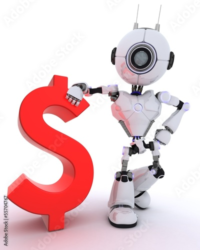 Robot with dollar sign