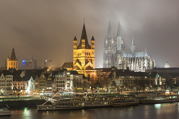 Cologne Germany by night