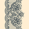 Lace Ribbon Vertical Seamless Pattern - 55705971