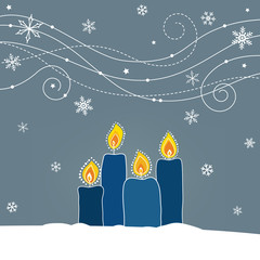 Weihnachtliche Karte mit Kerzen