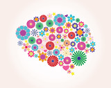 Abstract human brain, creative, vector