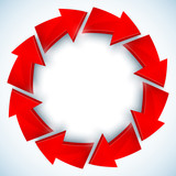 Red arrows closed vector circle