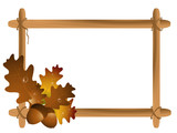 Frame with leaves