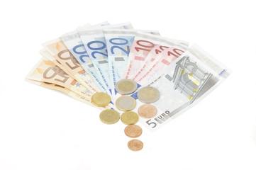 Euro Banknoten (weißer Hintergrund)
