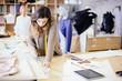 Leinwanddruck Bild - Fashion designer working in studio