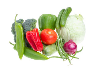 Assorted vegetables.