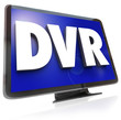 DVR Letters on Widescreen TV HDTV Television