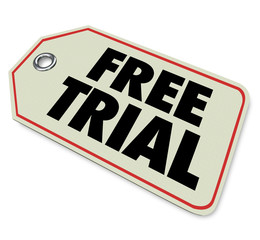 Free Trial Price Tag Special Offer Limited Time
