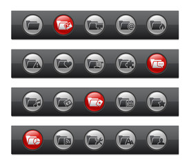Folder Icons - Set 2 of 2 -- Button Bar Series