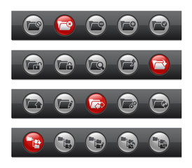 Folder Icons - Set 1 of 2 -- Button Bar Series
