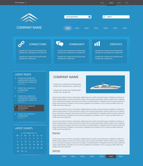 Blue Editable Website Template