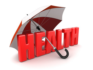 Health under Umbrella (clipping path included)