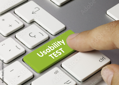 Usability Test keyboard finger