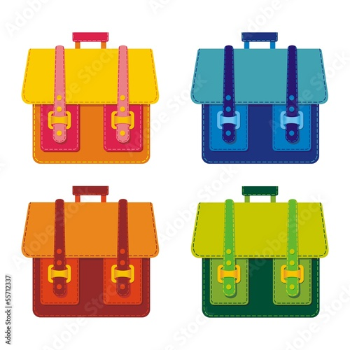 Briefcase. Vector illustration.