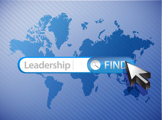 leadership search world map illustration