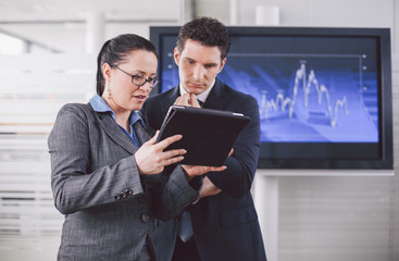 Businesswoman explaining future business plans to her colleague