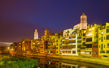 Evening view of of Girona