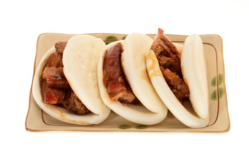 Chinese Steamed Bun With Braised Pork Filling