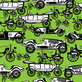 seamless pattern retro automobile