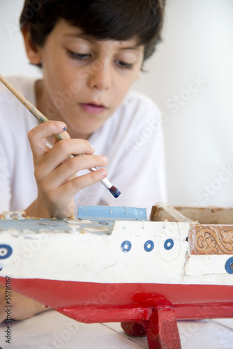 Painting old boat