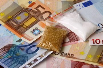 narkotyki i pieniądze