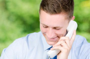 geschäftliches telefongespräch