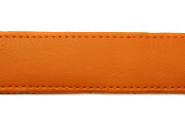 orange leather belt isolated on white background