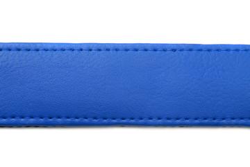 blue leather belt on white background