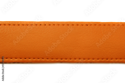 orange leather belt isolated on white background