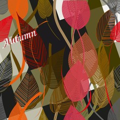 Abstract autumn  foliage background. Banner.