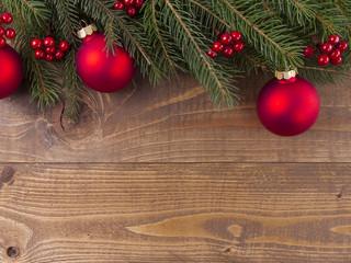 Weihnachtsdeko auf Holz