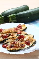 Zucchine grigliate e pomodorini