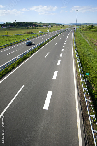 Highway between town Zagreb and Gorican on Hungarian border