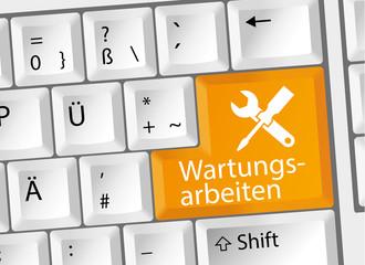 Wartungsarbeiten - Wartung - Tastatur deutsch