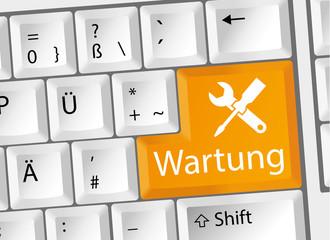 Wartung - Pflege - Tastatur deutsch