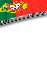 Designelement Flagge Portugal
